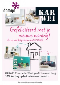 Reclame flyer voor Karwei en Domijn Enschede